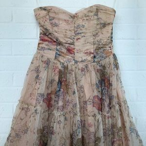 Zara tulle dress. Light pink & flowers. M